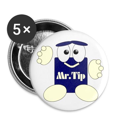mr tip2 - Buttons klein 25 mm (5er Pack)