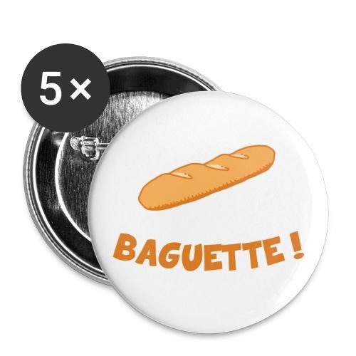 Baguette Texte png - Lot de 5 petits badges (25 mm)