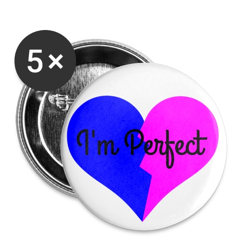T FLAG PERFECTION png - Buttons small 1''/25 mm (5-pack)