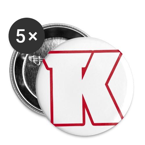 nouveaulogosanscoeur - Lot de 5 petits badges (25 mm)
