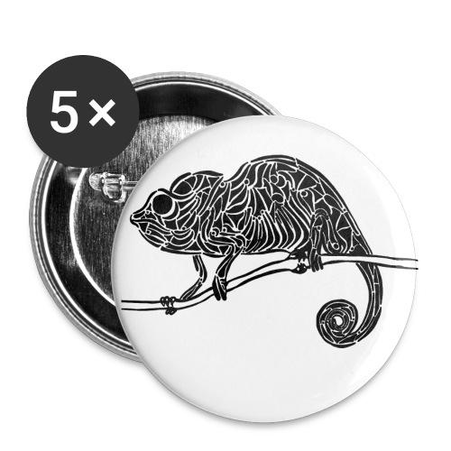 Chameleon - cameleon - Lot de 5 petits badges (25 mm)