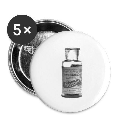 eroina bayer - Confezione da 5 spille piccole (25 mm)