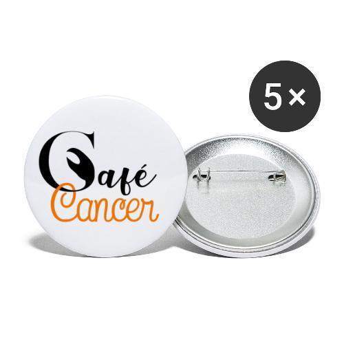 Café Cancer - Lot de 5 petits badges (25 mm)