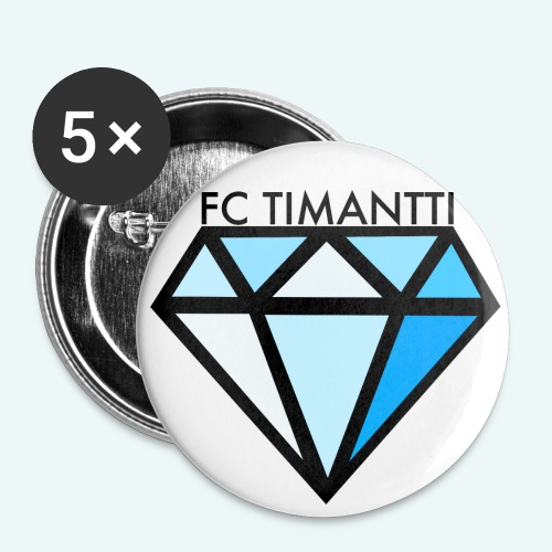 FC Timantti mustateksti - Rintamerkit pienet 25 mm (5kpl pakkauksessa)