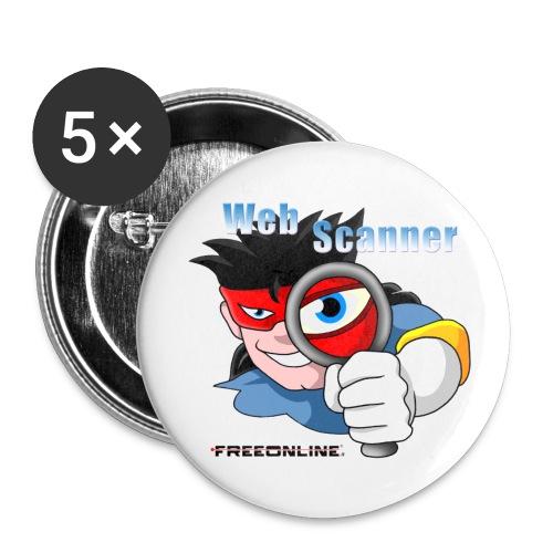 webscanner120 - Confezione da 5 spille piccole (25 mm)
