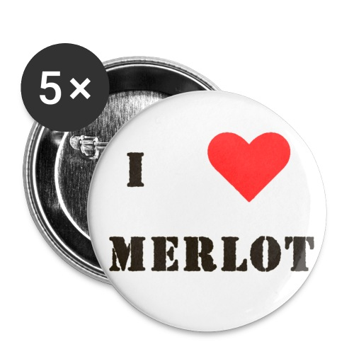 merlot - Buttons small 1''/25 mm (5-pack)