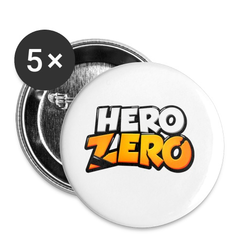 Hero Zero Logo - Buttons small 1''/25 mm (5-pack)