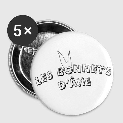 chapeau bonnet d âne png - Lot de 5 petits badges (25 mm)