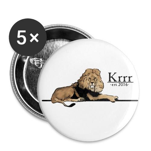 löwe farbig - Buttons klein 25 mm (5er Pack)
