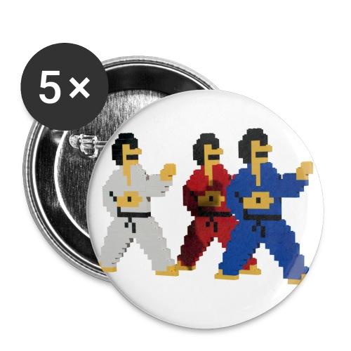 8 bit trip ninjas 1 - Buttons small 1''/25 mm (5-pack)