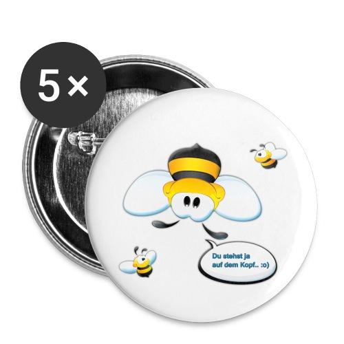 Bienchen Rückseite - Buttons klein 25 mm (5er Pack)