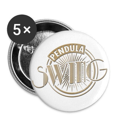 Pendula Swing Logo Gold - Buttons small 1''/25 mm (5-pack)