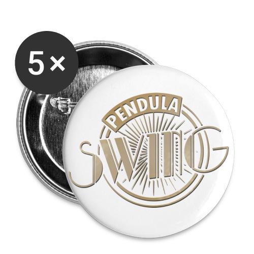 Pendula Swing Logo Gold - Buttons small 1''/25 mm (5-pack)