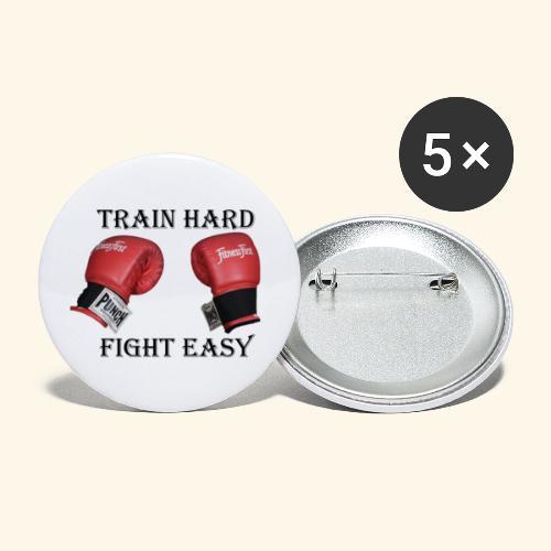 Kampfsport Training Boxen - Buttons klein 25 mm (5er Pack)