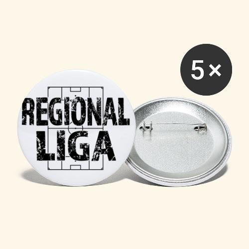 REGIONALLIGA im Fußballfeld - Buttons klein 25 mm (5er Pack)