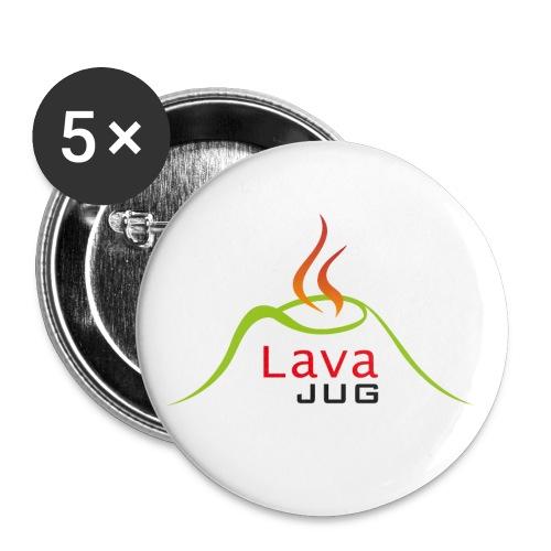 logo lavajug black - Lot de 5 petits badges (25 mm)