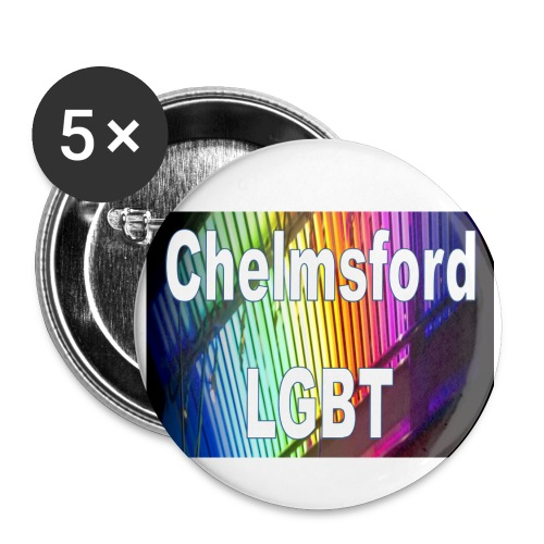 Chelmsford LGBT - Buttons small 1''/25 mm (5-pack)