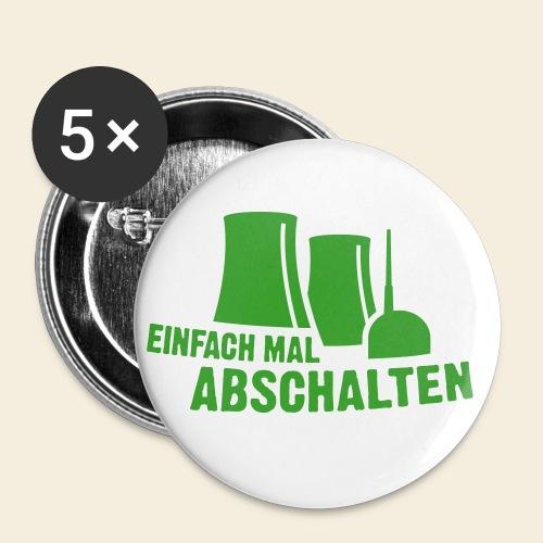 einfach mal abschalten - Buttons klein 25 mm (5er Pack)
