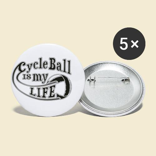 Radball | Cycle Ball is my Life - Buttons klein 25 mm (5er Pack)