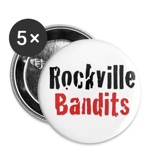 Rockville Bandits Schriftzug - Buttons klein 25 mm (5er Pack)