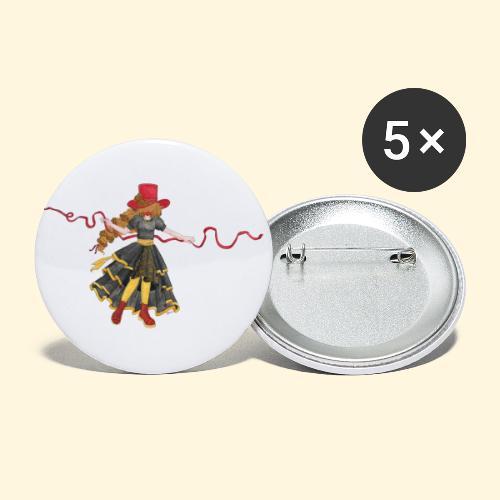 Ladybird - La célèbre uchronaute - Lot de 5 petits badges (25 mm)