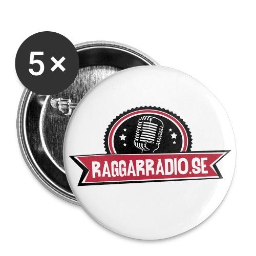 raggarradio - Små knappar 25 mm (5-pack)