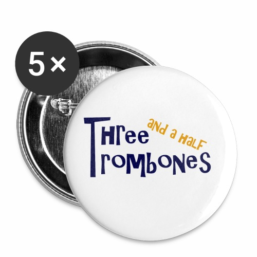 Three and a half Trombones Logo - Buttons klein 25 mm (5er Pack)