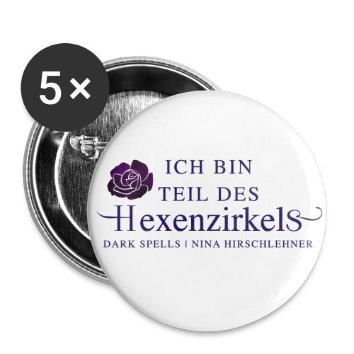 Der Hexenzirkel - Buttons klein 25 mm (5er Pack)
