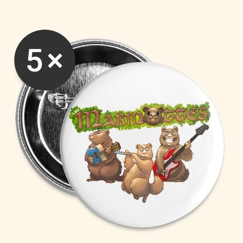 Accessoires Marmottes - Lot de 5 petits badges (25 mm)