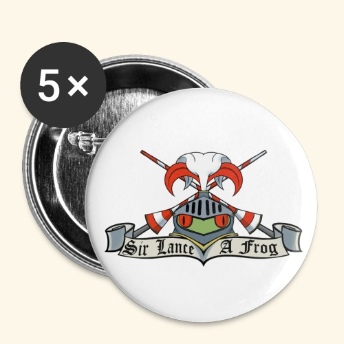 Sir Lance-a-frog Coat of Arms - Buttons small 1''/25 mm (5-pack)