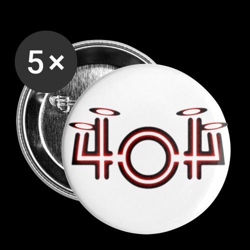 four o four logo - Buttons klein 25 mm (5er Pack)