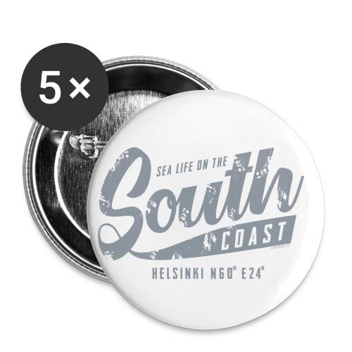 ETELÄRANNIKKO, SOUTH COAST HELSINKI COOL T-SHIRTS - Rintamerkit pienet 25 mm (5kpl pakkauksessa)