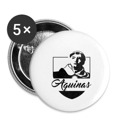Aquinas logo sans - Buttons klein 25 mm (5er Pack)