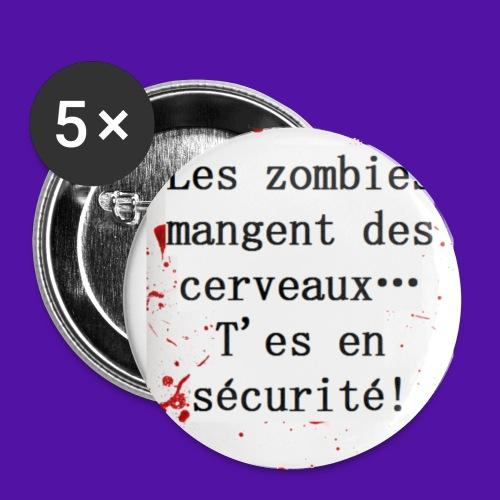 Les zombies mangent des cerveaux... - Badge petit 25 mm