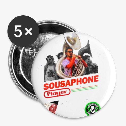 Sousaphone playerendo - Lot de 5 petits badges (25 mm)