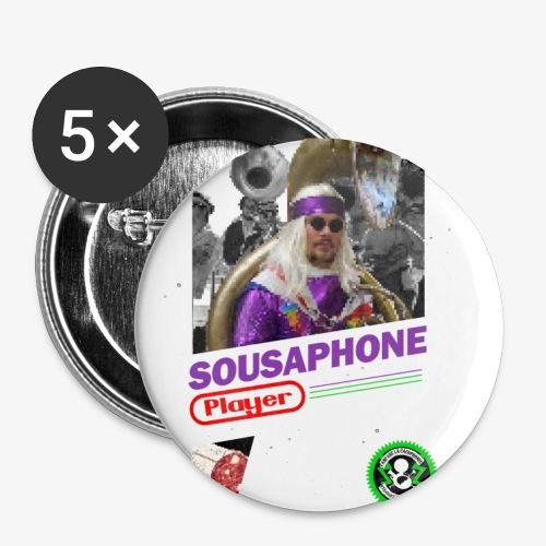 Soubassophone playerendo - Lot de 5 petits badges (25 mm)