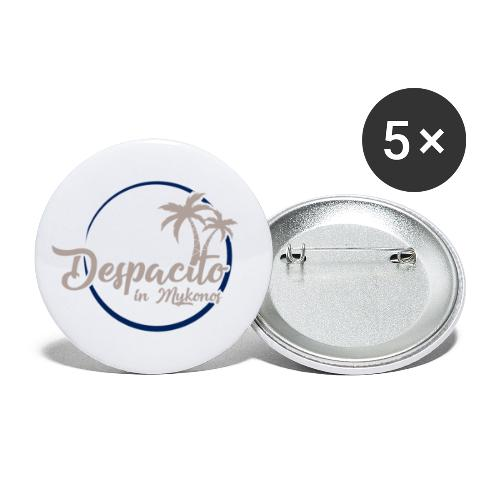 Despacito in Mykonos - Lot de 5 petits badges (25 mm)