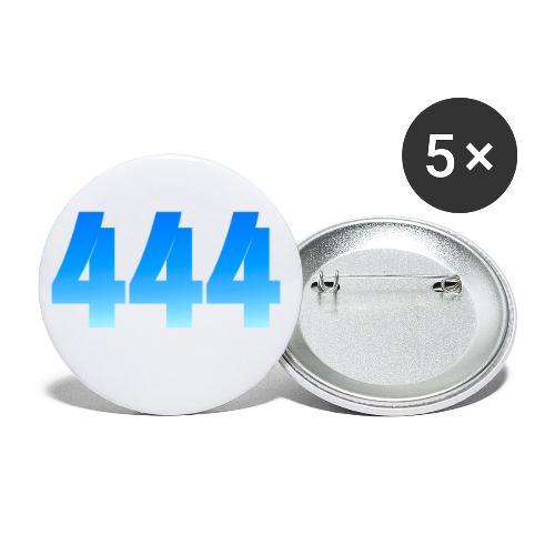 444 annonce que des Anges vous entourent. - Lot de 5 petits badges (25 mm)
