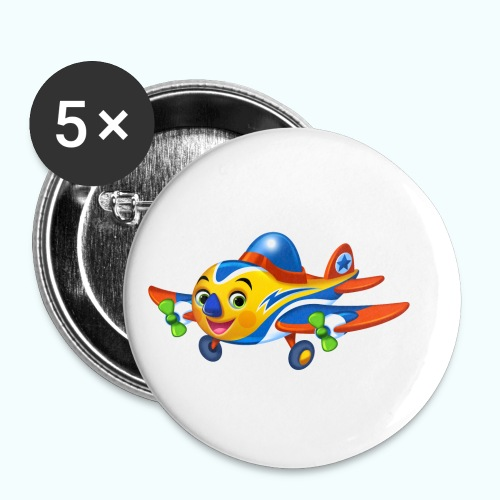 Airplane Arthur Collection - Buttons small 1''/25 mm (5-pack)