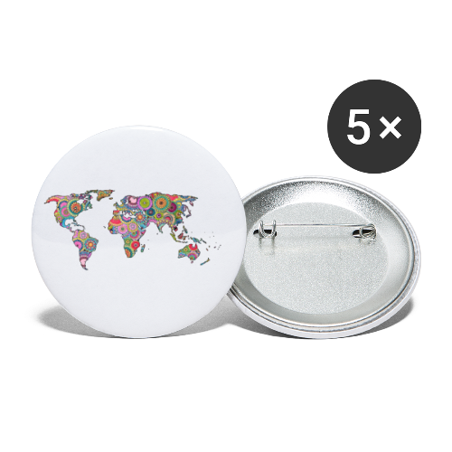 Hipsters' world - Buttons small 1''/25 mm (5-pack)