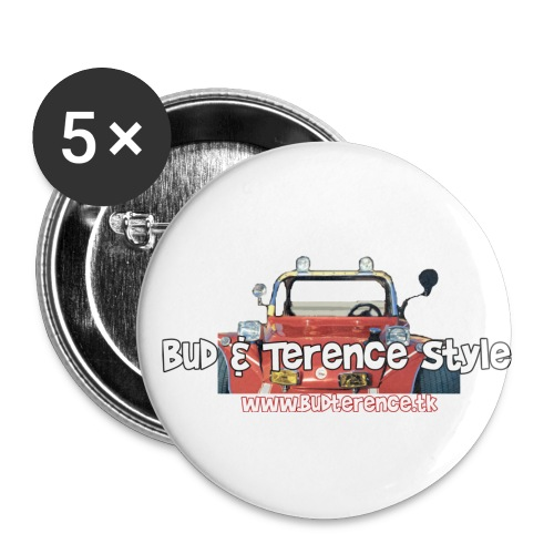 Bud Terence Style logo - Buttons small 1''/25 mm (5-pack)