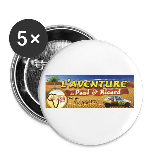 BANDEAU RAID jpg - Lot de 5 petits badges (25 mm)