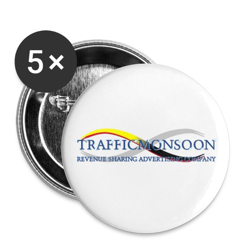 logo1TM_w - Buttons small 1''/25 mm (5-pack)