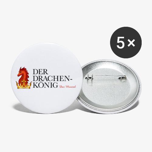 Logo  Der Drachenkönig  breit - Buttons klein 25 mm (5er Pack)