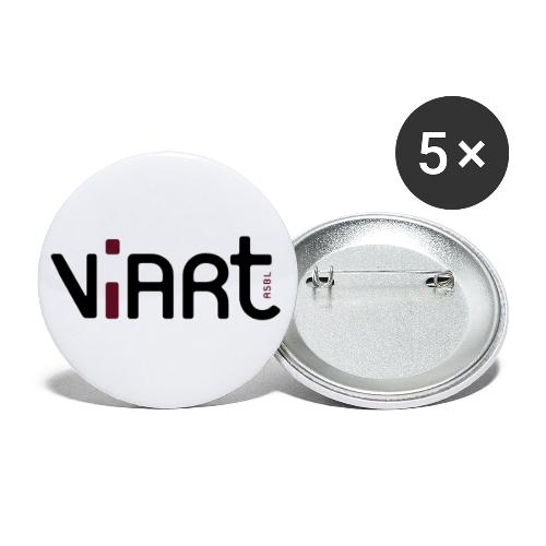 viart logo vect 2coul - Buttons klein 25 mm (5er Pack)