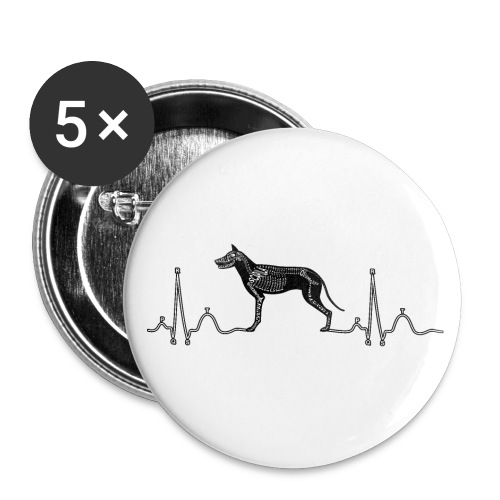 ECG met hond - Buttons klein 25 mm (5-pack)