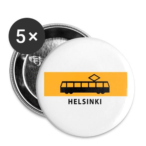 RATIKKA PYSÄKKI HELSINKI T-paidat ja lahjatuotteet - Rintamerkit pienet 25 mm (5kpl pakkauksessa)