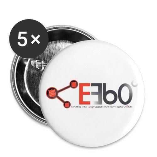 Nuovo Logo E360 slogan png - Confezione da 5 spille piccole (25 mm)