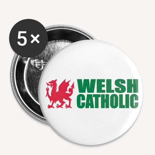 WELSH CATHOLIC - Buttons small 1''/25 mm (5-pack)