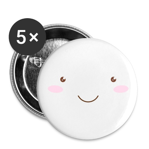 happy face - Buttons small 1''/25 mm (5-pack)